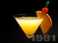 Коктейл Бронкс (Bronx) с джин, вермут и портокалов сок
